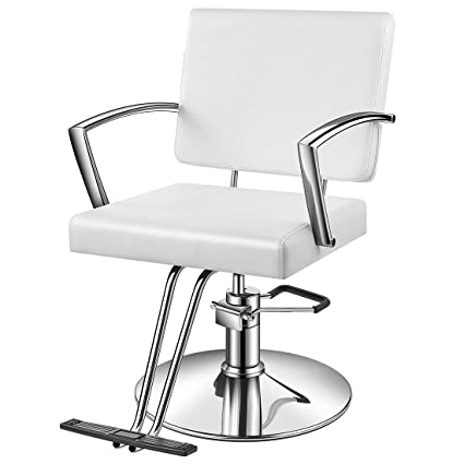 Excellent Baasha White Salon Chair White Styling Chair With Hydraulic Pump Footrest Armrest Thick Foam Seat Headrest Salon Chair White Barber Chair Gmtry Best Dining Table And Chair Ideas Images Gmtryco