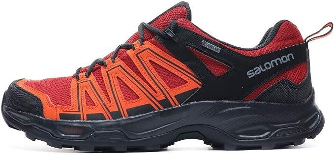 Salomon Eastwood GTX zapatos de Gore Tex zapatos exterior Senderismo Hombre, Hombre, 406464, red dahlia-cherry tomato-black, 42 2/3: Amazon.es: Deportes y aire libre