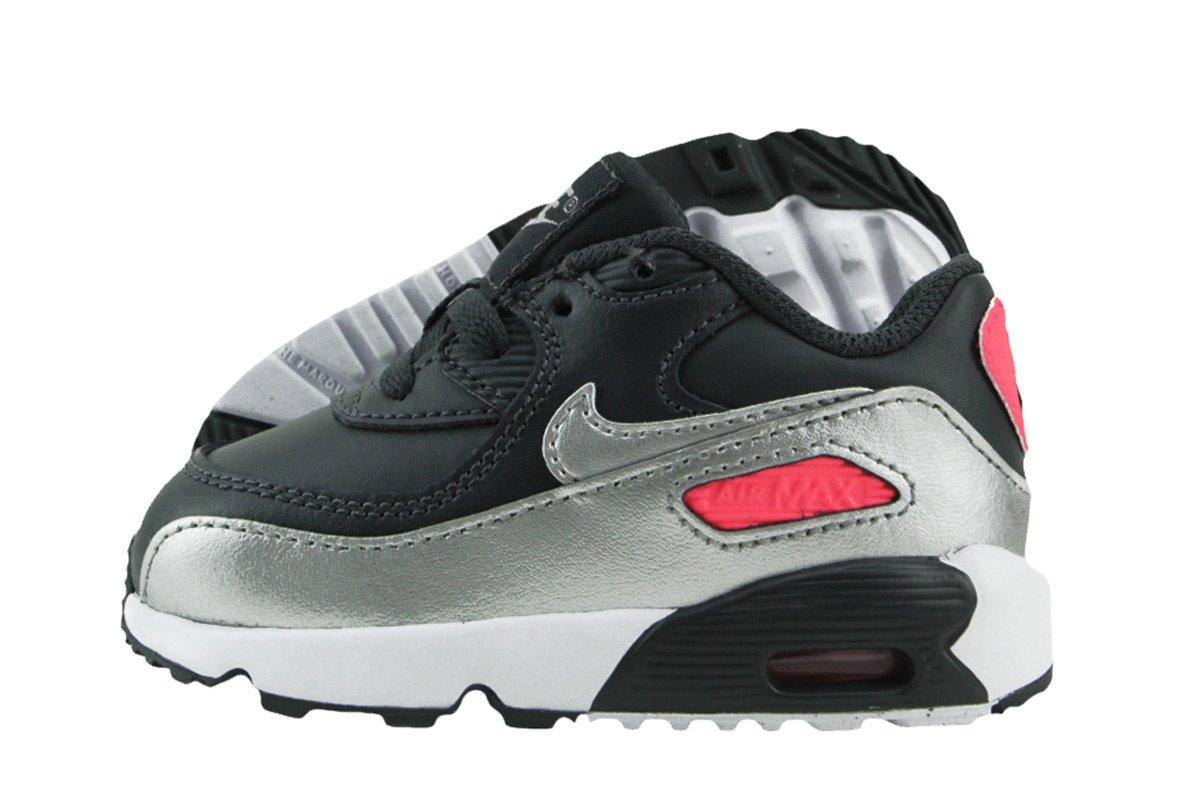 Girls' Nike Air Max 90 Leather (TD) Toddler Shoe
