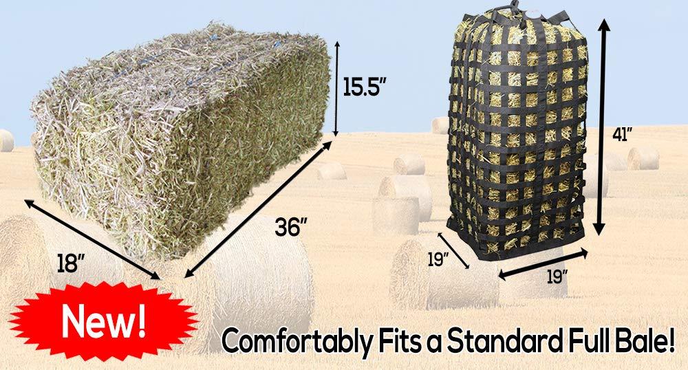 Derby Originals XL Go Around 4 Sided Slow Feed Hay Bale Bag Patented (Black) by Derby Originals (Image #4)