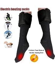 Chengstore Calcetines calefactados con batería, Calentadores de pies de Invierno eléctricos, Calcetines cálidos de