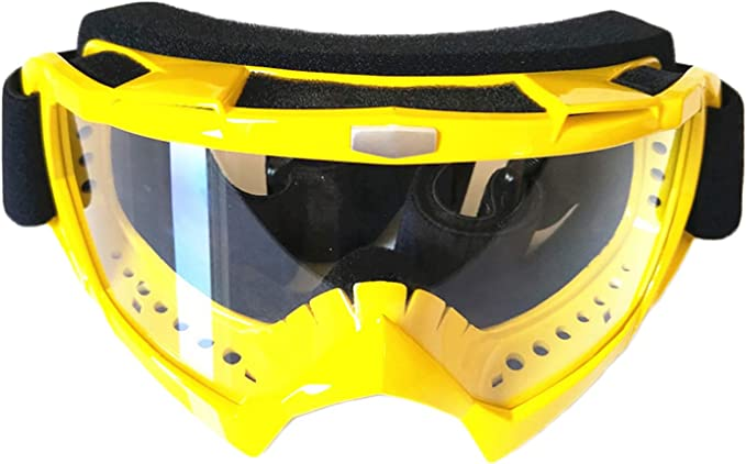 June Sports Motorcycle Goggles Dirt Bike ATV Motocross Safety ATV Tactical Riding Motorbike Glasses Goggles Men Women Youth Fit Over Glasses UV400 Protection Shatterproof KG16