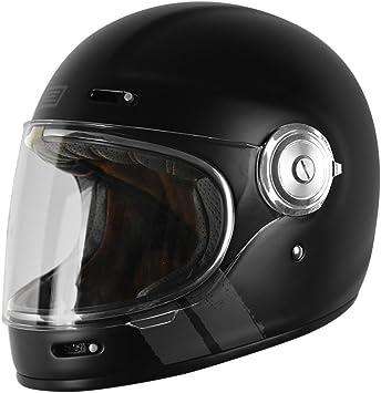 59-60 CM Casco integral de fibra de vidrio Origine Stripe White /Caf/é Racer L Vega