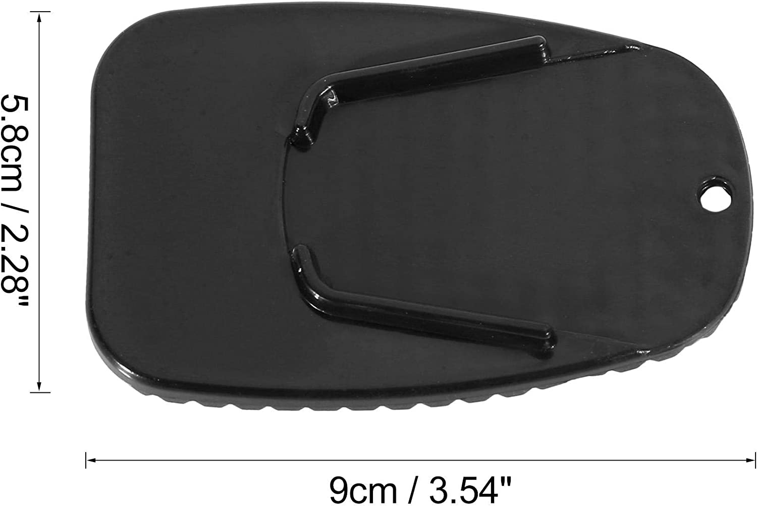 F FIERCE CYCLE 2pcs Motorcycle Kickstand Pad Side Stand Extension Pad Black