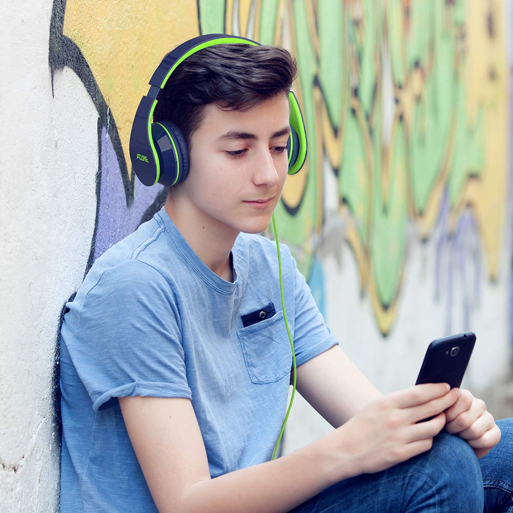 Indigo Stereo Foldable Headset Compatible with Laptop Tablet PC Computer ACURE AC02 Wired Headphones with Lightweight Over Ear Design for Kids Girls Boys