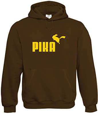 632715867256 Pika Pikachu Mens Adult Unisex Premium Hoodies Availabe in Multiple Colours  and Sizes Joke Novelty Geek