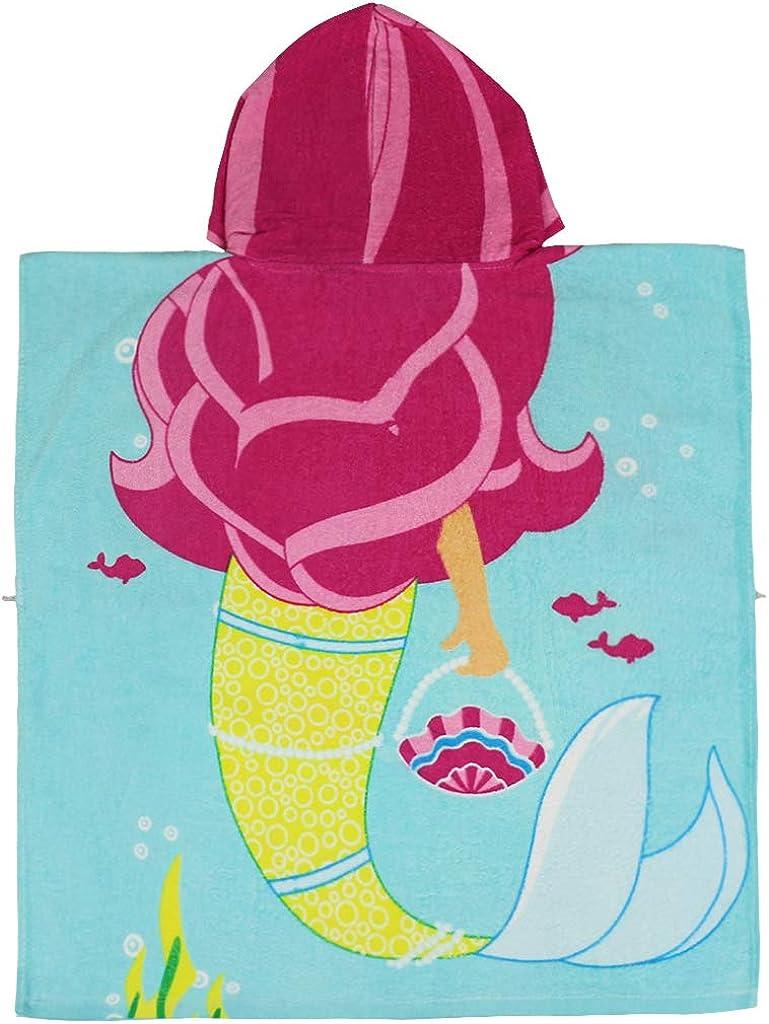 Gogokids Ni/ños Ni/ñas Poncho Toalla Playa con Capucha 100/% Algod/ón Secado R/ápido Albornoz Bebe Manta de Ba/ño Nadando Surf Deporte T/única