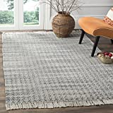Safavieh Boston Collection BOS707A Grey and Ivory Cotton Flatweave Area Rug (5' x 8')