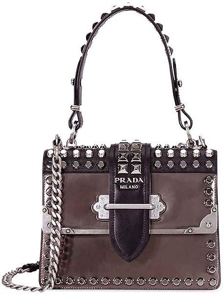 419ff11ad205 Prada Cahier Studded Leather Crossbody Bag: Handbags: Amazon.com