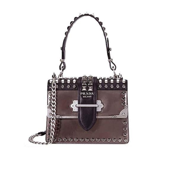 8d2480bab85d Prada Cahier Studded Leather Crossbody Bag: Amazon.ca: Watches