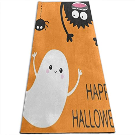 Amazon.com : Happy Halloween Ghost Bat Yoga Mat-All-Purpose ...