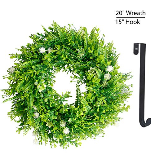 Green Wreath for Summer Front Door Greenery Wreaths 20