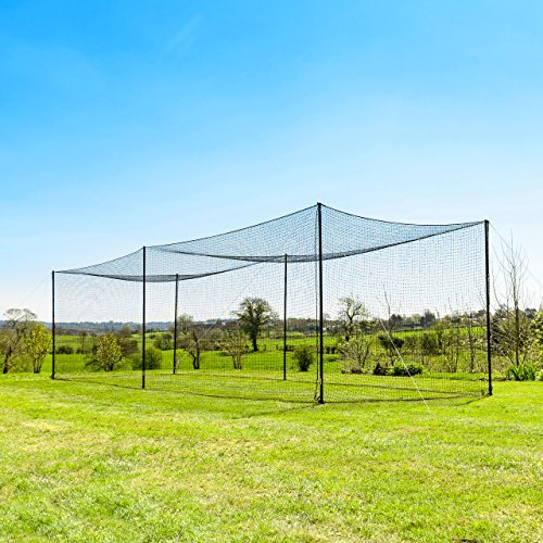 - 35' Ultimate Baseball Batting Cage [Net & Poles Package] - #42 Heavy Duty Net with Steel Uprights [Net World] 24hr Ship (01. Ultimate Batting Cage)