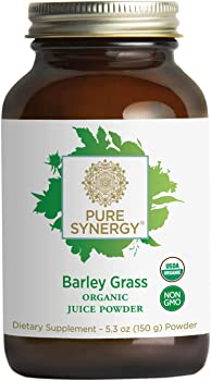 Pure Synergy USDA Organic Barley Grass Juice Powder