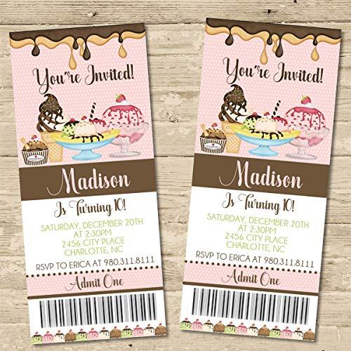 ice cream birthday invitations - 7