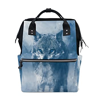 Diaper Bags Backpack Purse Mummy Backpack Fashion Mummy Maternity Nappy Bag Cool Cute Travel Backpack Laptop Backpack with Watercolor Smoke Daypack for Women Girls Kids
