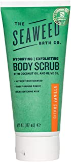 product image for The Seaweed Bath Co. Body Scrub, Citrus Vanilla, Hydrating & Exfoliating, With Natural Bladderwrack Seaweed, Vegan, Paraben Free, 6 oz.