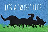 Jellybean Its a Ruff Life Dog Mans Best Friend Washable 21 X 33 Area Accent Rug