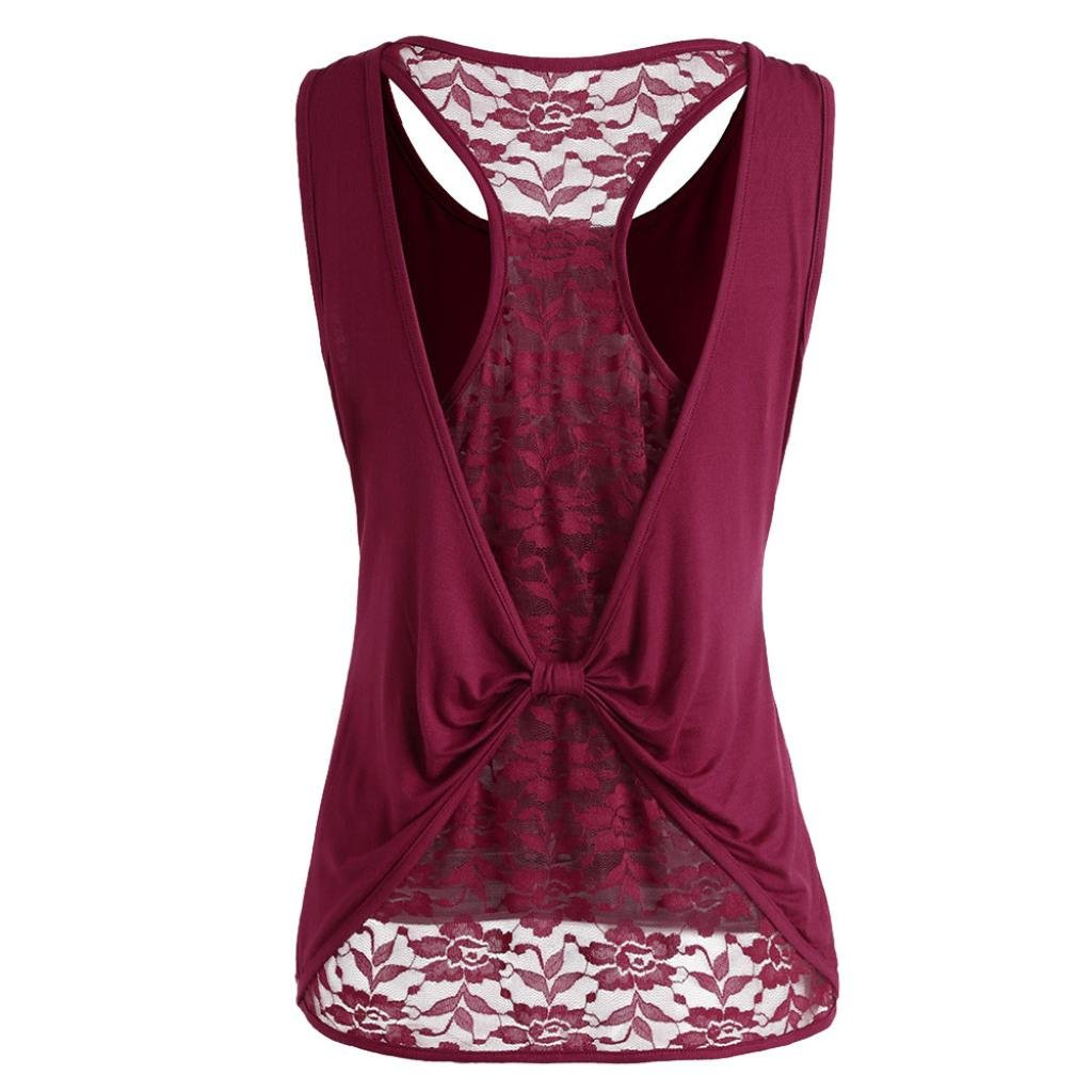 OverDose Damen Bandagen ärmellose Weste Top Musical Notes Drucken Strappy Tank Tops Bluse T Shirt