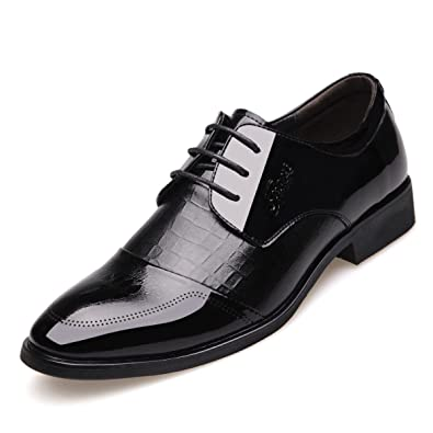LEDLFIE Herren Lederschuhe Formelle Kleidung Business Lederschuhe