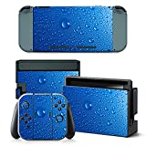 Gam3Gear Vinyl Decal Protective Skin Cover Sticker for Nintendo Switch Console & Controller – Water Drop