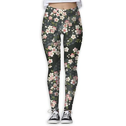fe64427e8a2f5 LLL 2017 Cherry Blossom Women's Printed Sports Pants Yoga Pants Fitness  Jogging Pants