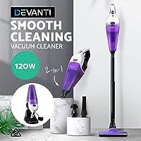 Devanti 120W Vacuum Cleaner Cordless Stick Vacuum Cleaner Handheld Bagless Vacuum Cleaner Rechargeable Black & Purple