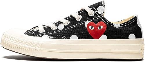 Amazon.com | Converse Chuck 70 Ox (Black/White 8) | Fashion ...