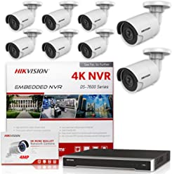 4MP IP Camera International Upgradeable Firmware VER HIKVISION NVR 4K 16 Channel PoE DS-7616NI-Q2//16P KIT w// 8 Hikvision DS-2CD2143G0-I Dome 2.8mm New H.265 Replacement Model for DS-2CD2142FWD-I