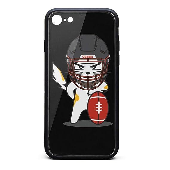 223f7fe8465b1 Amazon.com: iPhone 7/8 Case American Football Cat Ultra-Thin Back ...