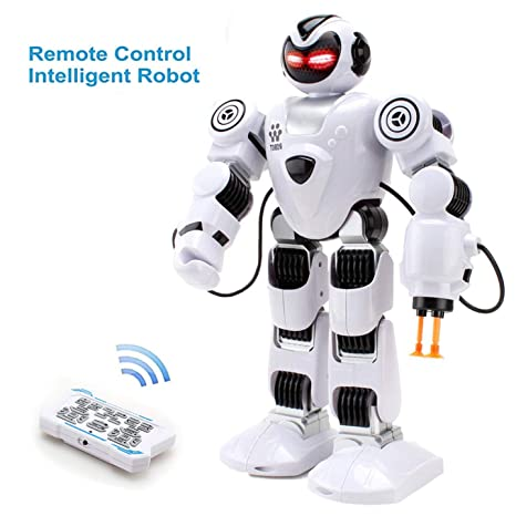 HANMUN Big Remote Control Robots for Kids - RC Remote Control Rechargeable  Programmable Robot - Intelligent Robot Toy Chritsmas Gift for Kids Boys