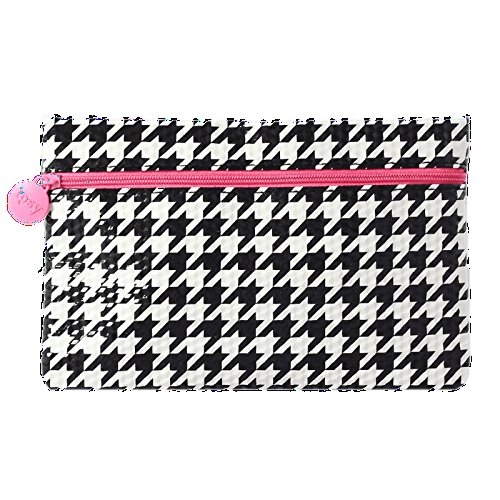 Ipsy August 2015 Black White Houndstooth Checkered Cosmetics / Makeup Bag