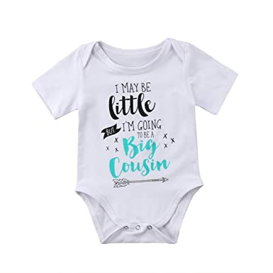 e50862d73 LYhoneys Baby Girls Boys Romper For Cousins Matching Outfit Set Big Cousin Onesies  Gift: Amazon.co.uk: Clothing