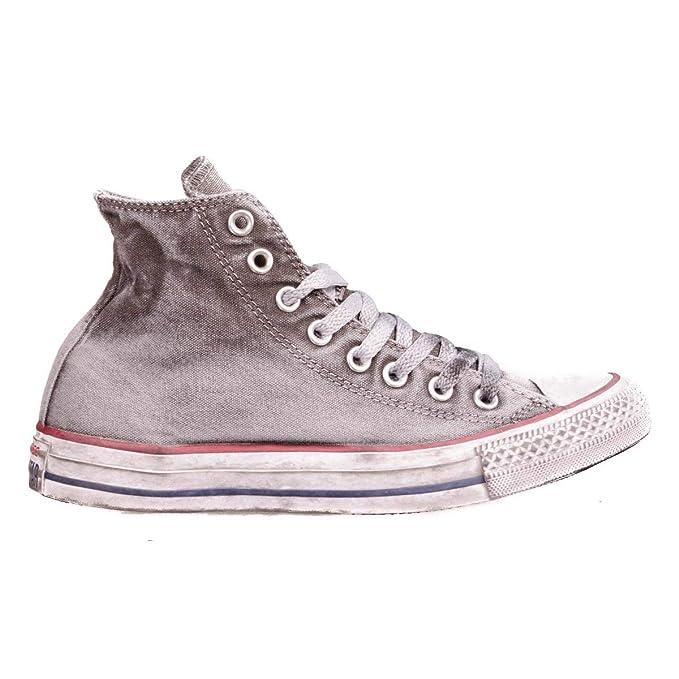 548f30c4c8 Converse, Unisex adulto, Chuck Taylor All Star High Canvas LTD Op White  Smoke In, Tela, Sneakers Alte, Grigio