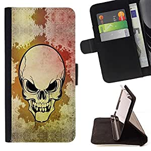 BETTY - FOR Samsung Galaxy Note 3 III - cool scary skull art Goth blood evil - Style PU Leather Case Wallet Flip Stand Flap Closure Cover