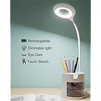 Lámpara Escritorio LED, Hepside Flexo LED escritorio 3Niveles de Brillo Panel Táctil Luz…