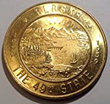 1959 Alaska Birthday Year Souvenir Money One Dollar in Trade $1 Choice Uncirculated
