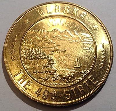 1959 Alaska Birthday Year Souvenir Money One Dollar in Trade $1 Choice Uncirculated