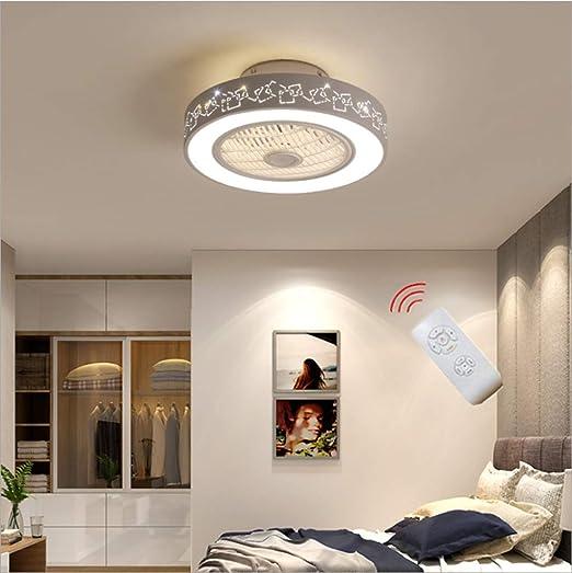 XinZe Sala De Estar Ventilador Lámpara De Techo Dormitorio Ahorro ...