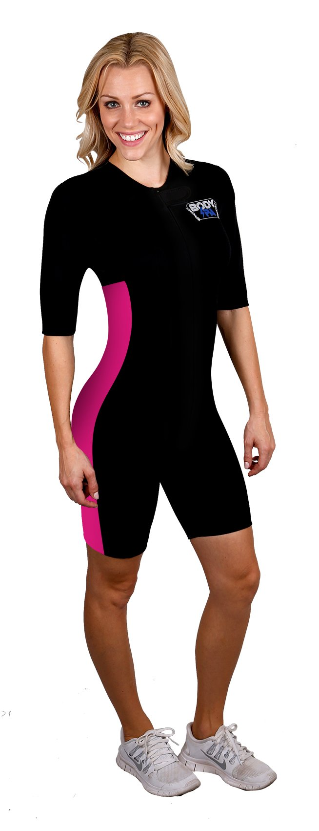 Sauna Suit Neoprene Weight Loss Gym Sport Aerobic Boxing MMA (Pink, Small) 13930