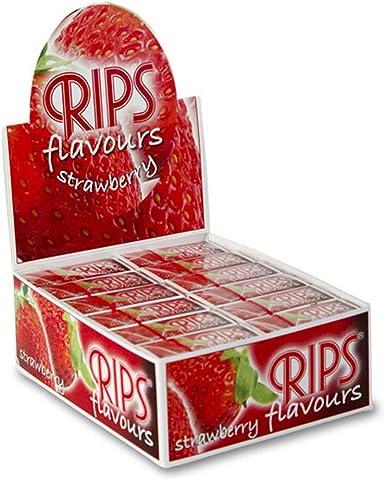Rips Flavours - Caja de 24 Rollos de Fresa: Amazon.es: Ropa y accesorios