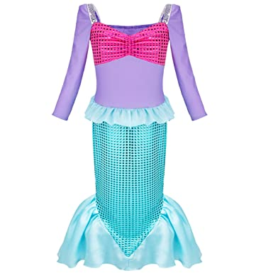 Iefiel Kinder Kostum Fur Madchen Meerjungfrau Kostum Prinzessin