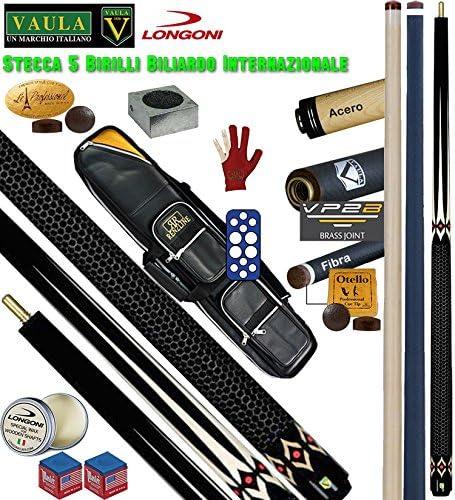 Taco 5 Birilli y 9 birilli-goriziana Billar Internacional Longoni Vaula diamond Pro, 2 puntas, acero
