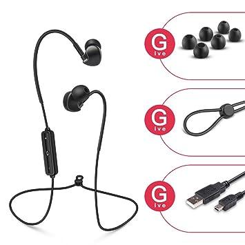 Kuuboo Auriculares inalámbricos, auriculares Bluetooth, SoundBuds, auriculares inalámbricos ligeros, impermeables, Bluetooth