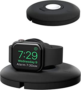 PZOZ Charger Stand Compatible for Apple Watch, Portable Charging Station Cable Management Dock Holder Case Organizer for iWatch with Band Series 6 SE 5 4 3 2 1 44mm 40mm 42mm 38mm Accessories (Black)