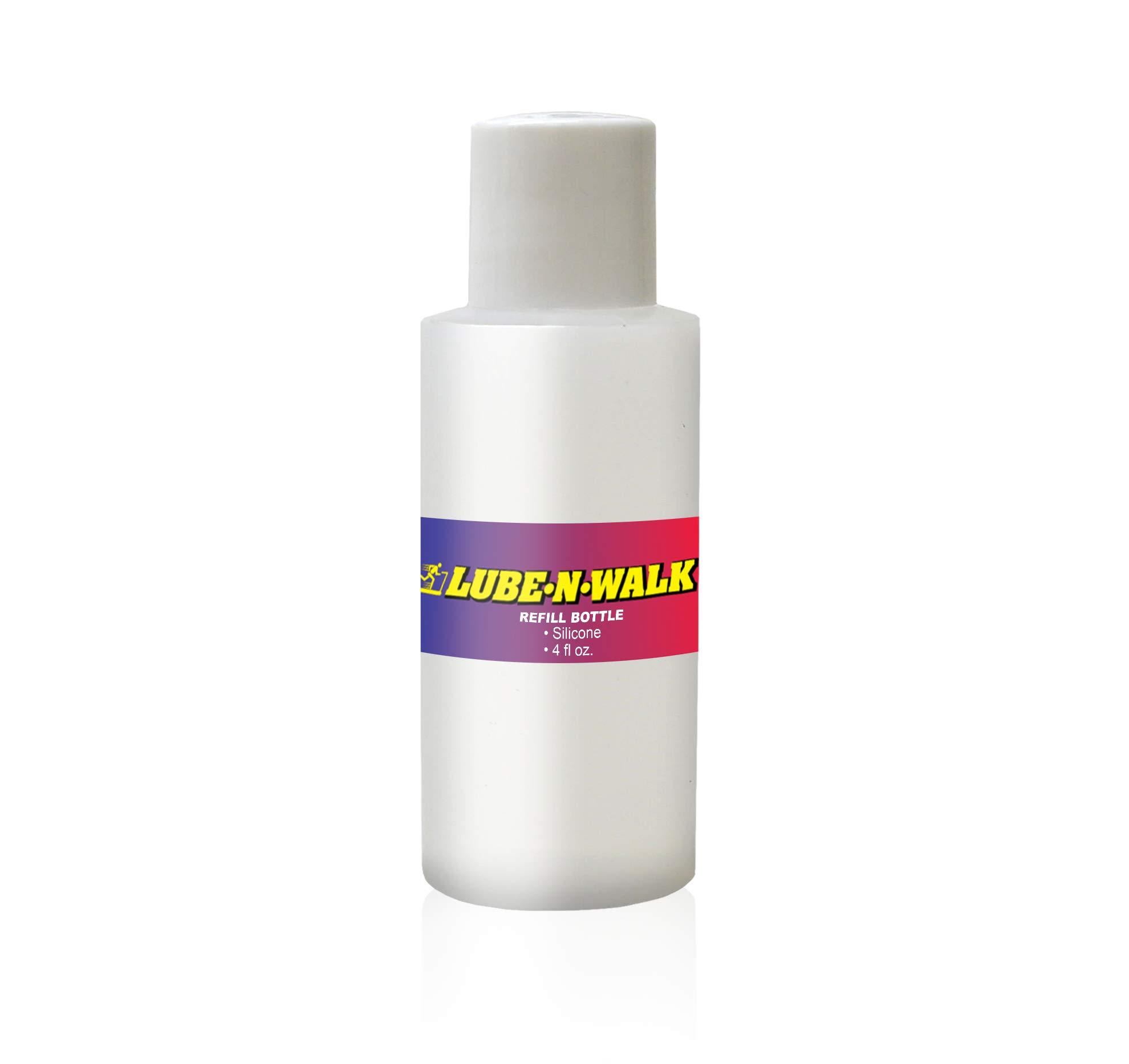 Lube-N-Walk 4 oz. Silicone Refill Bottle Red, 7'' 2'' x 2'' by Lube-N-Walk