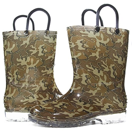 - Zac & Evan Toddler Boys Printed High Cut Puddle Proof Rain Boots Camouflage Green Size 11/12