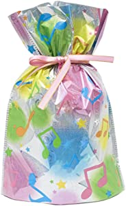 Gift Mate 21005-9 9-Piece Drawstring Gift Bags, Small, Musical Notes