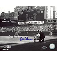 Steiner Sports Fotografía autografiada de la MLB Don Larsen First Pitch, 8 x 10 Pulgadas