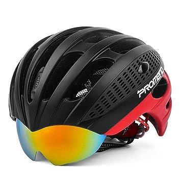 LOLIVEVE - Gafas de Ciclismo para Hombre y Mujer, Ligeras, Cascos de Carretera,
